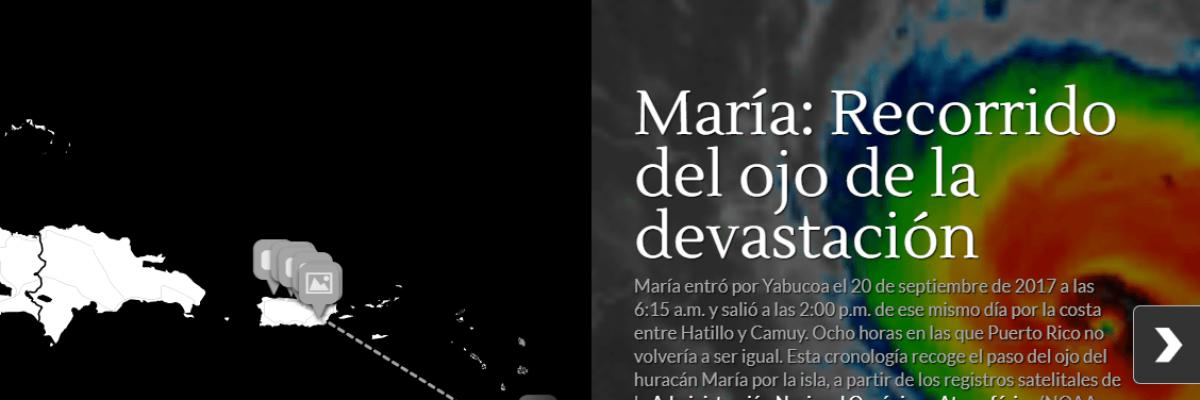 La ruta de la devastación cronológica: Tiempo y espacio del paso de María por Puerto Rico