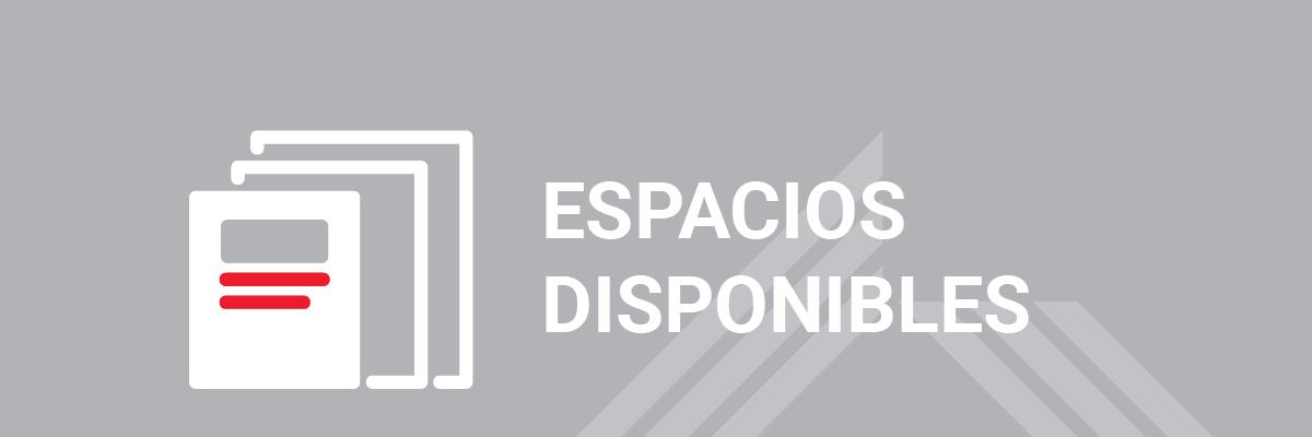 Espacios disponibles en cursos de COPU de enero a mayo 2019